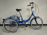 "Adults tricycle, folding frame, 24"" wheels, 6-speed shimano gears, SCOUT , adult trikes"