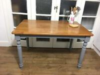 SOLID FARMHOUSE DINNING TABLE FREE DELIVERY 🇬🇧