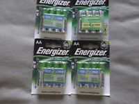 four 4 packs of energizer accu rechargeable batteries,they last twice as long