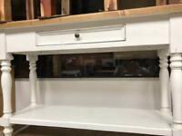 Shabby chic/farmhouse console/hallway table