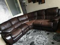 Brown leather sofas bargain RRP &3,000