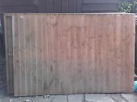 3 unused 6x4 grange feather edge fence panels