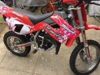 Malaguti Grizzly Rx12 50cc Kids Bike Rev n Go Mint Condition Custom Graphics