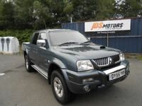 Mitsubishi L200 Warrior, 2005 55, 98k, 12 Months MOT, 2 Owners only, Full Leather, Diesel