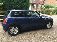 2015 Blue Mini Cooper with Chilli Pack, Warranty and Servicing Package