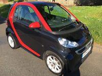 2014 Black/Red Sporty Smart For Two Passion Turbo w/Power Steering + SatNav
