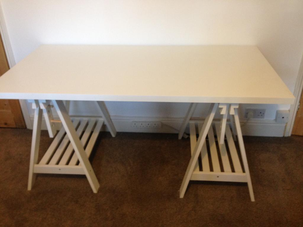 Ikea linnmon finnvard desk white in norwich norfolk gumtree