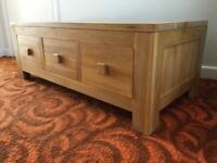 Solid oak rustic 6 drawer TV/Media unit/cabinet (Oak furniture land)