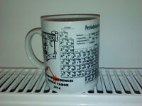 Periodic System chemistry ceramic mug