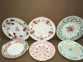 6 x Mixed Royal Crown Derby Plates - bargain - inc honey suckle n balti