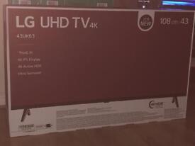 "BRAND NEW LG 43"" 4K 43UK6300PLB UHD TV RRP 599"