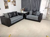 EXPRESS DELIVERY ALL UK | NEW BYRON BROWN/BEIGE 3+2 OR CORNER SOFA SEATER | 1 YEAR WARRANTY