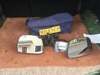 Millenco Grand Aero Flat Caravan Towing Mirrows x 2 plus carry bag