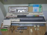Brother KH-891 Knitting Machine and Brother KR-850 Ribber in Original Box - Fully Working