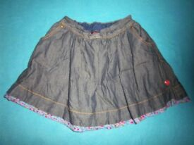 Ted Baker Girls Denim Skirt Age 5-6 Years IP1