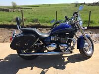 Triumph America LT, almost new with TomTom and Viper helmet