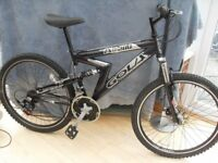 ADULTS GOLA ZXR 200 FULL SUSPENSION MOUNTAIN BIKE WITH DISC BRAKES IN VGC for sale  Leicestershire