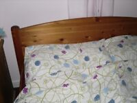 pine double bed fram