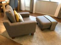 Light Grey Armchair Ankara Dwell