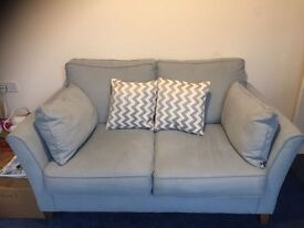 6 month old Medium size Sofa - Izzy Sky Fabric - excellent condition