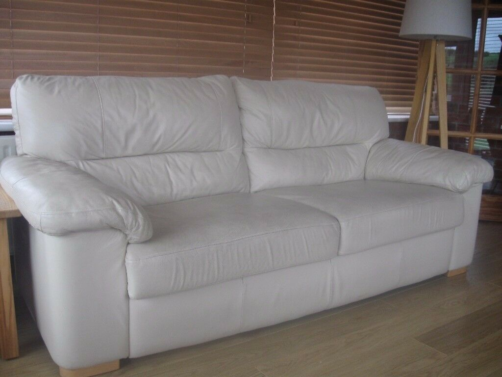 Real leather sofa and chair.