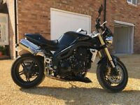 Triumph Speed Triple 1050cc in Black with only 4800 miles