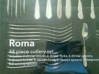 Debenhams Roma 44 piece cutlery set