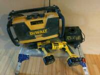 Dewalt radio ,drywall driver, drill,chrger and battedries