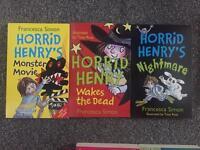 3 children's Horrid Henry books.