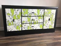 Upcycled spray painted retro sideboard/dresser
