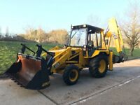 JCB 3cx 4x4, back hoe and front loader. Digger, dumper