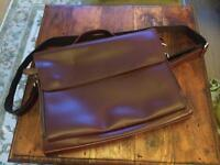 NEW brown leather satchel briefcase