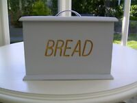 Wooden painted bread bin
