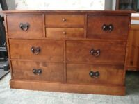 Laura Ashley Garrat Chestnut 8 Drawer Chest Of Drawers Sideboard Dresser Solid Birch Wood