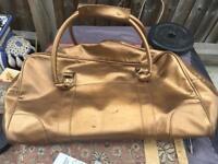 Ladies Travel handbag gold colour used good condition £5