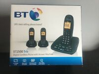 NEW BT1500 cordless phones/Answering Machine. Triple Pack