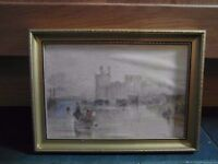 Oil painting of Conway Castle