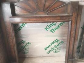 Solid wood antique fireplace surround