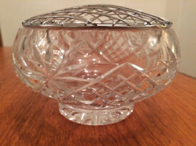 Crystal Cut Glass Rose Bowl