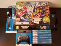 Used Wii U Mario Kart 8 + Splatoon with games and accessories (USED)