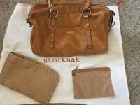 Leather storksak Elizabeth changing bag
