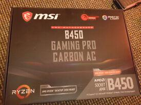 MSI b450 gaming pro carbon ac RYZEN motherboard