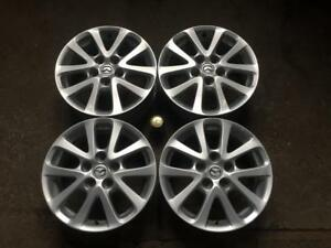 "4 MAZDA 16"" FACTORY ORIGINAL 10 SPOKE POWDER COAT SILVER MAGS"