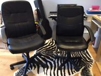 Two Black Office Chairs For Sale