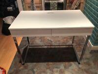 Habitat Sammy 2 Drawer Desk - White Gloss