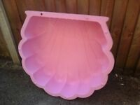 Pink shell sandpit or baby pool