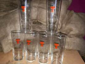 10 new tennants beer pint glasses