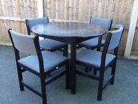 retro 80`s four matching chairs
