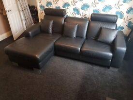 Leather corner sofa quick sale