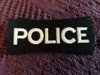 Iron on dressing up Police Patch